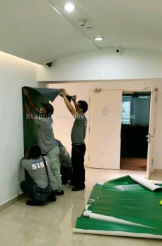 Wall backdrop install/Office decoration