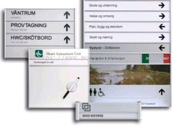 Aluminum signage system jb