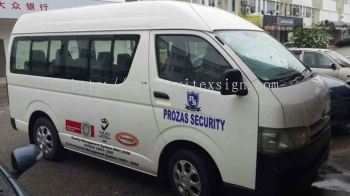 Van Advertising security or private travel van  V05 (click for more detail)