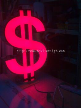 money changer 3d Sign with led controller system in color effect