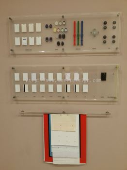 Products display board showroom (click for more detail)