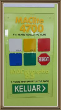 reflective vinyl sticker Maclite flim