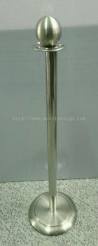 Stainless Steel Queue Pole (36 x 10) (click for more detail)
