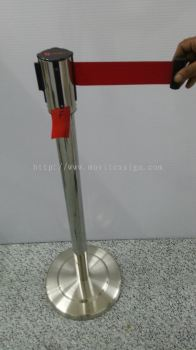 Stainless Steel Queue Pole (35 x 12) (click for more detail)
