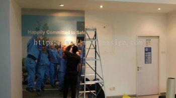 backdrop Wallpaper Company management Info at Main Entrance