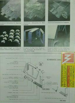 Aluminium light box system in n outdoor used