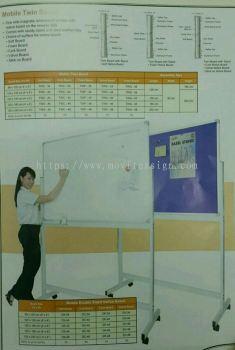 board white /Notice  board n solf board cum  stand n roller