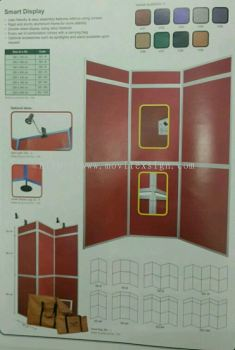 Exhibition board ready made /display board poterble system