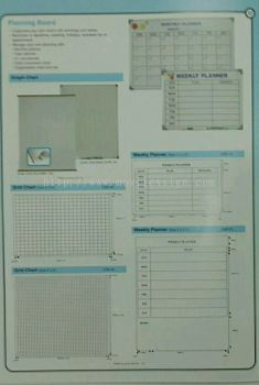white board ready made chart board n graphic lines