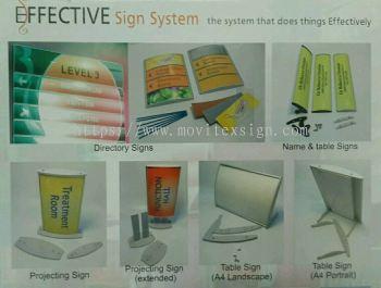 Convax aluminium building directory  /Architecture profle