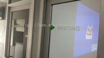 Office door with Vinyl film text or logos example