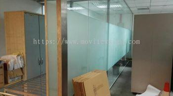 tinted sandblast film / frosted bigger film office glass divider floor plan