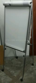 White Magnetic baoard with roller Adjustable height showroom  set Size 2x3 ft board