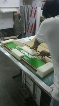 sign packing for Outstation order