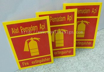 fire Extinguisher /Alan Pemadam Api size 16 x24 both  side 3M reflextive  for sale see>next (click for more detail)