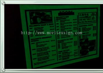 Night Glow sticker sign 2/ selflight in the Darkness /Nite Club /Caf�� /Laboratory equipment sign