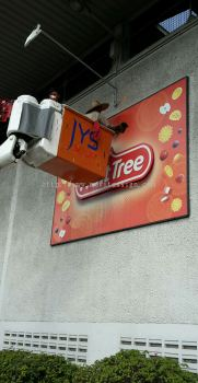 cleaning n washing signboard with protection coating / note: yearly contract