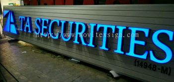 LED logo sign and 3D lettering with aluminum panel board good for use in corporate office, hospital and bank (click for more detail)