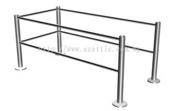 SR-FL Stainless Steel Safety Rail