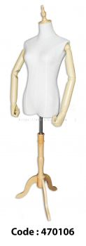 470106 - FEMALE TORSO with HAND and WOODEN TRIPOD