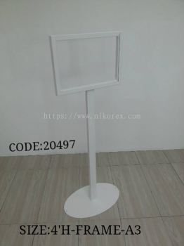 20497-A3 SIGN STAND C/W ACRYLIC-EPOXY-OVAL BASE