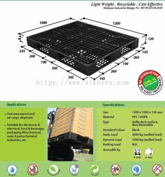 80084-N4-1210SL 1000X1200X120MM PLASTIC PALLET