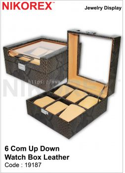 19187-6COM UP DOWN-WATCH BOX LEATHER