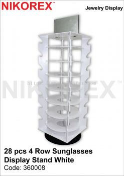 31116-28PCS 4ROW SUNGLASSES DISPLAY STAND-WHITE