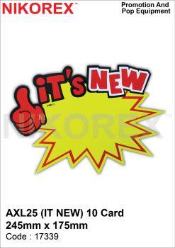 17339 - AXL25 (IT NEW) 10 CARD 245mm x  175mm