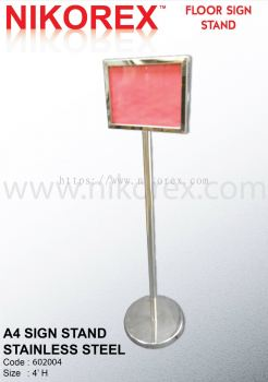 17132-A4 SIGN STAND-S.STEEL