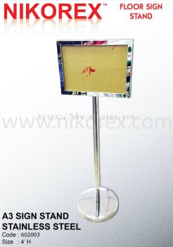 17134-A3 SIGN STAND-S.STEEL