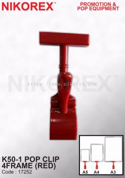 17252-K50-1 POP CLIP 4FRAME (RED)