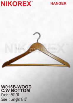30106-W015B-WOODEN HANGER C/W BOTTOM