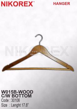 501003 - Wood Hanger w Bottom W015B (10pcs)