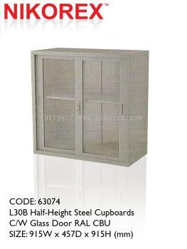 750203 - GLASS DOOR CUPBOARD 3'H (L35B)