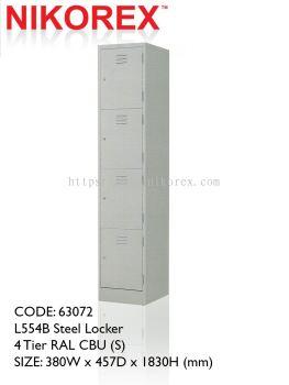 750402 - LOCKER 4 DOOR 6'H (L554B)