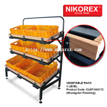 CUST-000172 Vegetable Rack 3 Level