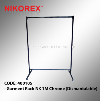 400105 - Garment Rack NK 1M Chrome (Dismantalable)