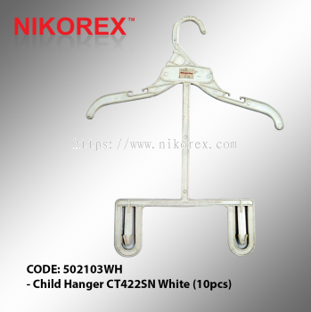 43055 - Child Hanger CT422SN White (10pcs)