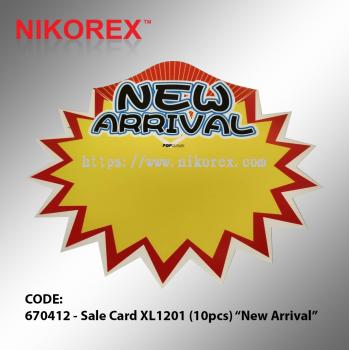 "670412 - Sale Card XL1201 (10pcs) ""New Arrival"""