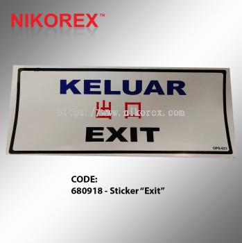 """680918 - Sticker """"Exit"""""""