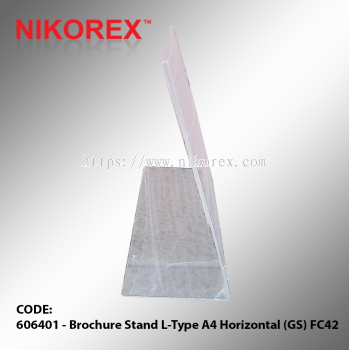 606401 - Brochure Stand L-Type A4 Horizontal (GS) FC42