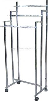 16073-TAIWAN 3LAYER BELT STAND-CHROMED