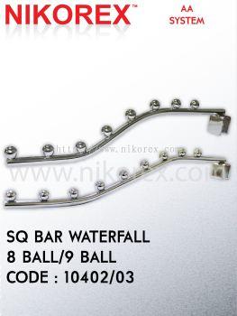 10402, 10403-Sq.Bar Waterfall 8Ball, 9Ball