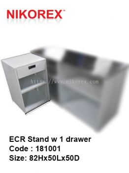181001 - ECR Stand w 1 drawer 82Hx50Lx50D