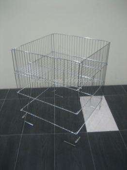 22121-CHROMED OFFER BASKET-60X60CM