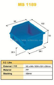 80312-MS1189 92X102X52MM STORAGE BIN