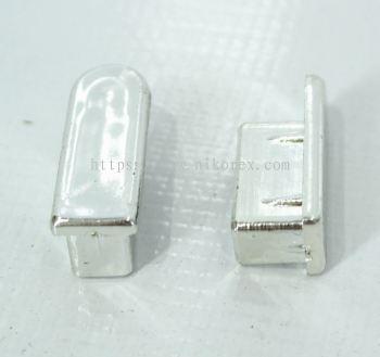 10108-SQ BAR CAP CHROMED-PC