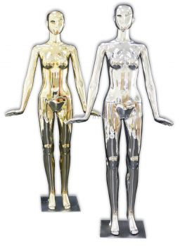 37753-F09-GOLD & SILVER FEMALE MANNEQUIN