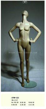 451004SV - FEMALE FIBER MANNEQUIN G.SILVER (CFWW-320)